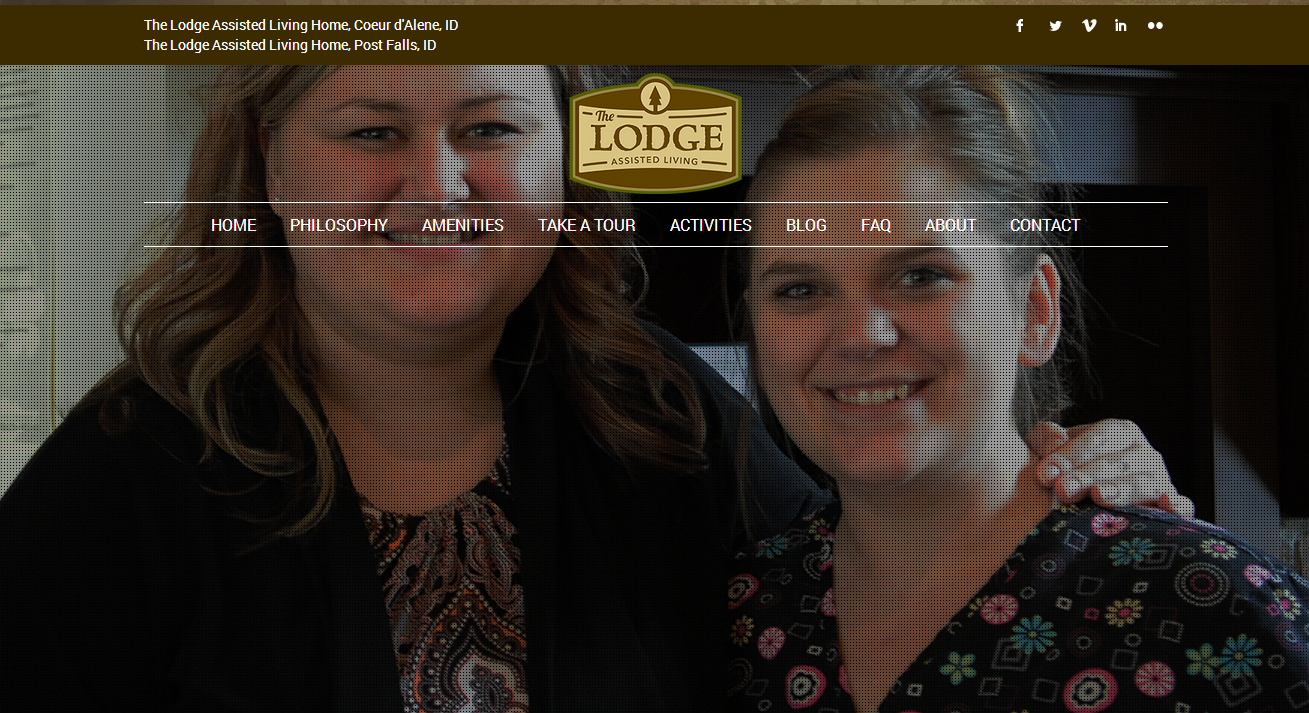 The Lodge Assisted Living homes launches a new website!